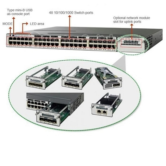 سوئیچ سیسکو Cisco Switch WS-C3750X-48T-S