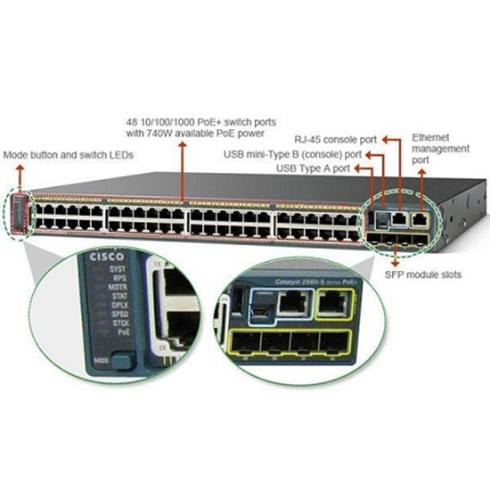 سوئیچ سیسکو مدل Cisco Switch WS-C2960S-48TS-L