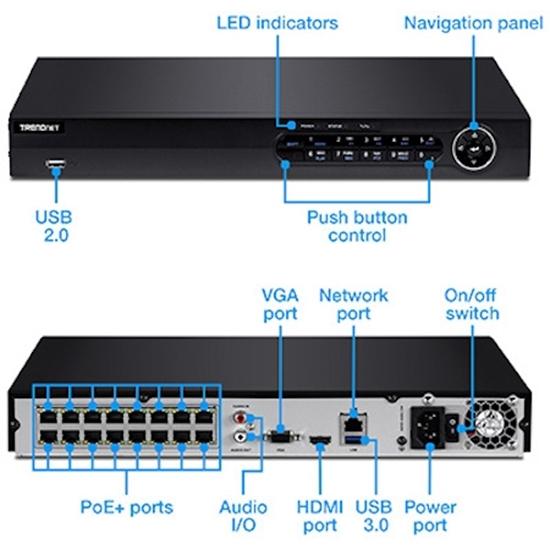 دستگاه NVR (ان وی آر) ترندنت مدل NVR Trendnet TV-NVR216