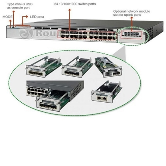 سوئیچ سیسکو مدل Cisco Switch WS-C3750X-24T-E