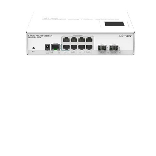 کلاود روتر سوئیچ میکروتیک مدل Mikrotik Cloud Router Switch CRS210-8G-2S+IN