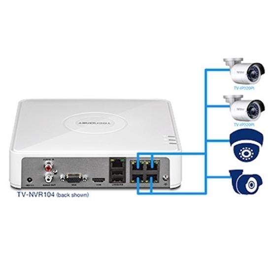 مجموعه دوربین مداربسته و NVR ترندنت مدل Trendnet TV-NVR104K
